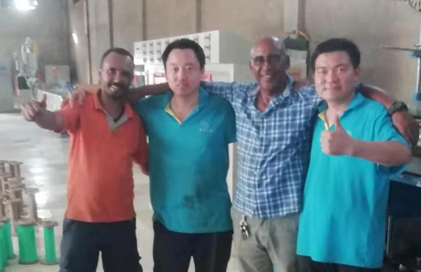 2019年7月,鲁普耐特机械前往苏丹为客户购买设备进行安装调试