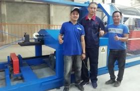 2019年7月,鲁普耐特为菲律宾客户安装制绳机等绳网设备顺利调试成功